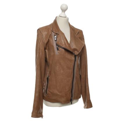 Andere merken Frauenschuh - Leren jack in bruin