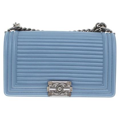 """Chanel """"Boy Bag"""" in Blau"""