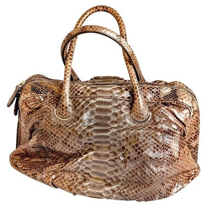 Zagliani Handtasche aus Pythonleder