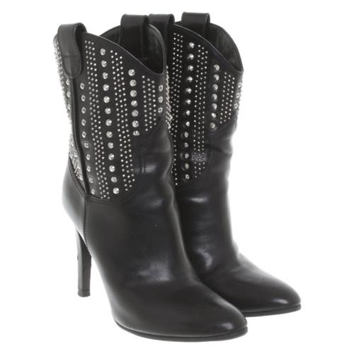 acc7684fc77 Saint LaurentEnkellaarzen in zwart- Second-handSaint ...