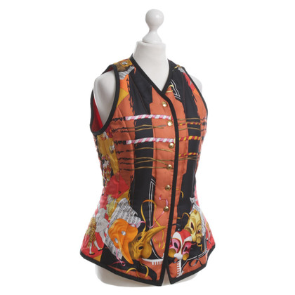 Hermès Silk vest with pattern