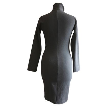 Andere Marke Etuikleid aus schwarzer Wolle