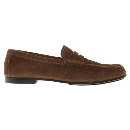 Prada Suede leather slippers in brown