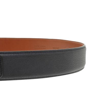 Santoni Leather belt in blue