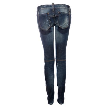 Dsquared2 Middenblauwe biker-jeans