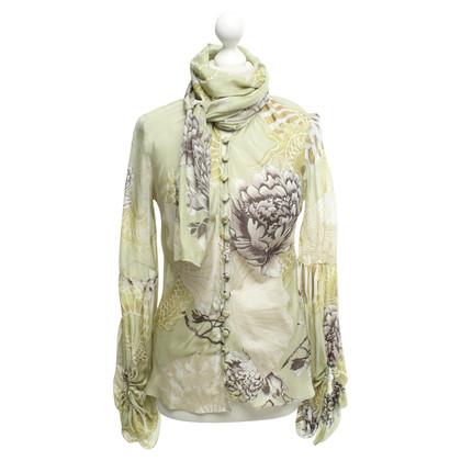 Roberto Cavalli Silk blouse in green