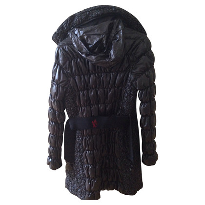 Moncler Black down coat with hood