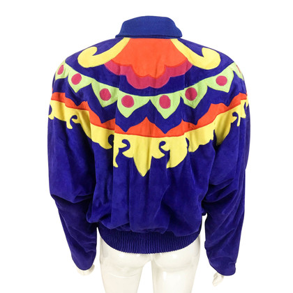 Versace Colorful wild leather jacket