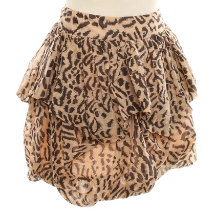 Reiss Mini-skirt with Animal-Print