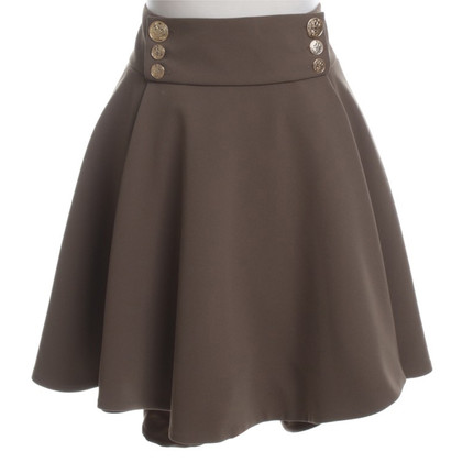 Elisabetta Franchi Pleated skirt in olive