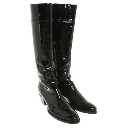 Car Shoe Boots patent leather