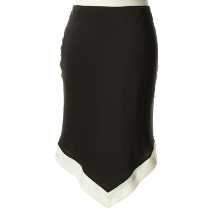 Giorgio Armani Zwarte rok met contrast zoom