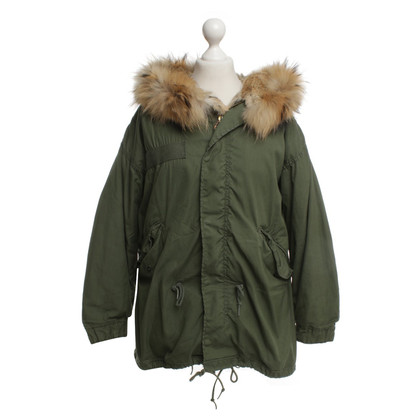 Barbed Parka in olive green