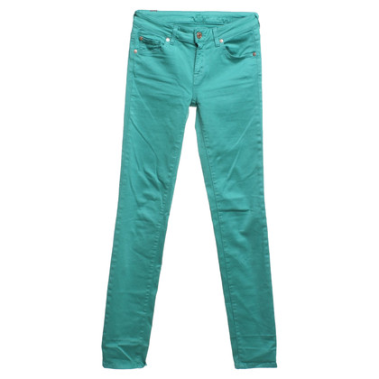 7 For All Mankind Skinny Jeans in Mintgrün