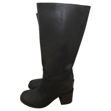 L'autre Chose Black overknee boots