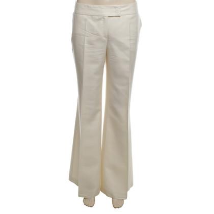 Escada pantaloni di seta in crema