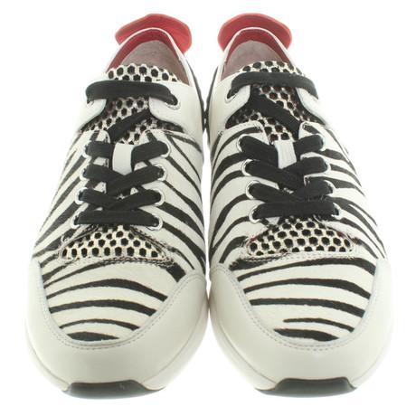 Marc Cain Sneakers im Animal-Look Schwarz / Weiß Preiswert Rabattpreise QAQo522wj