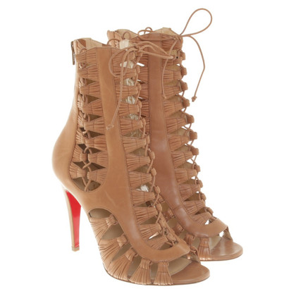 Christian Louboutin Laced Sandals in Nude