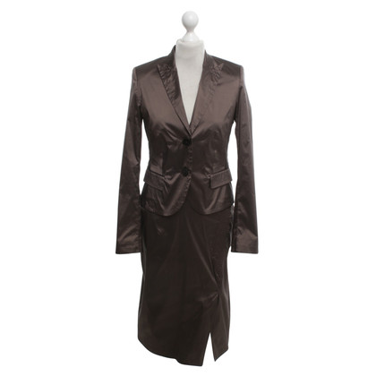 René Lezard Dress & Blazer in Brown