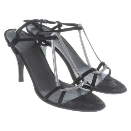 Hermès Sandali Nero/grigio