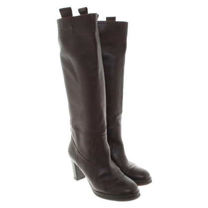 L'autre Chose Boots in dark brown