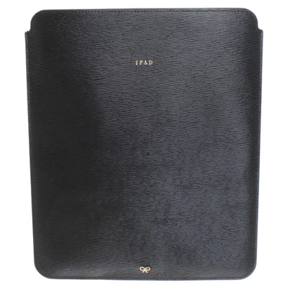Anya Hindmarch ipad lederen envelop in zwart