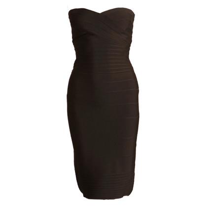 Herve Leger Strapless jurk
