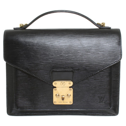 "Louis Vuitton ""Monceau EPI leather"" in black"
