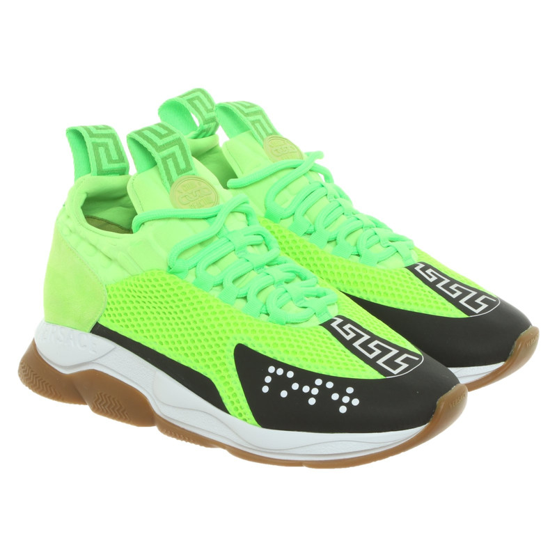 Versace Trainers in Green - Second Hand