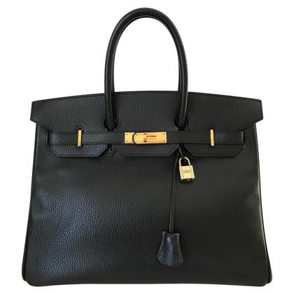"""Hermès """"Birkin Bag 35"""" Ardennes Noir"""