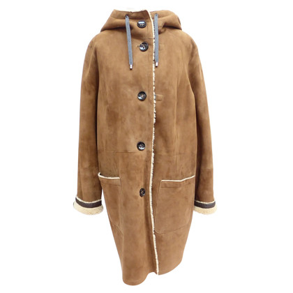 Bogner Lambskin coat with hood