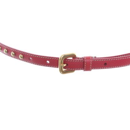 Prada Narrow belt made of Saffiano