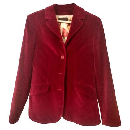 Dolce & Gabbana Giacca di velluto rosso