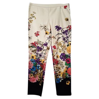 Moncler Pantaloni con una stampa floreale