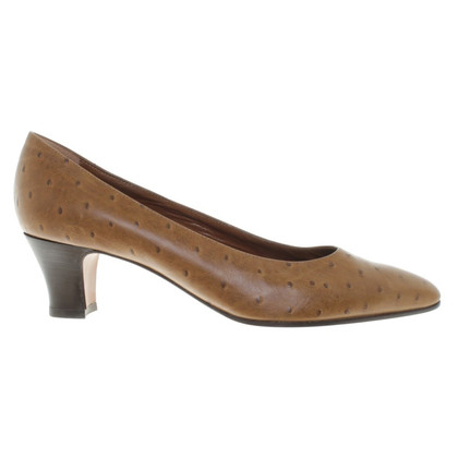 Baldinini pumps from ostrich leather