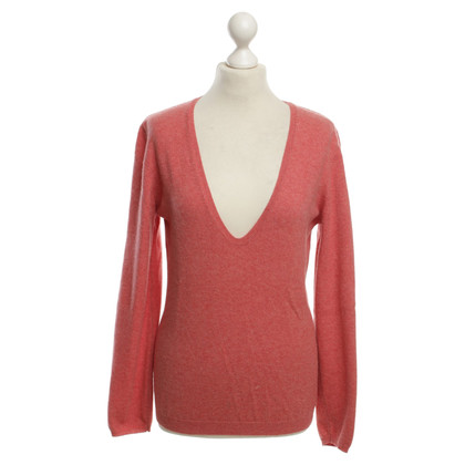 Brunello Cucinelli Cashmere sweater in coral red