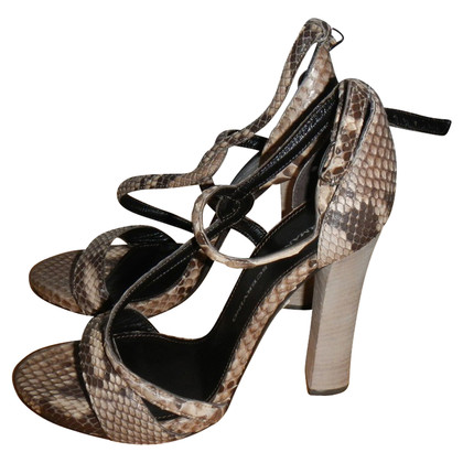 Ermanno Scervino Sandaletten aus Pythonleder