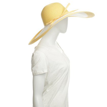 Escada Summer hat in white / yellow