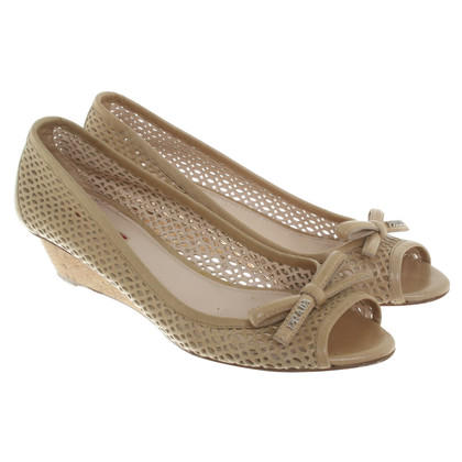 Prada Wedges in beige