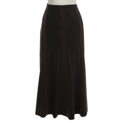 Marc Cain Wool skirt in Brown