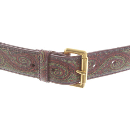 Etro Belt with paisley pattern