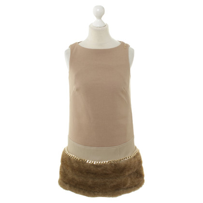 Elisabetta Franchi Sheath dress with faux fur hem