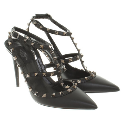 Valentino Rockstud-pumps in black