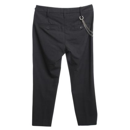 Brunello Cucinelli pantaloni con piega in antracite