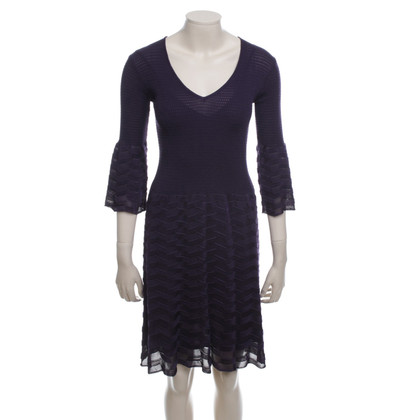 Missoni Knitted Dress in Violet