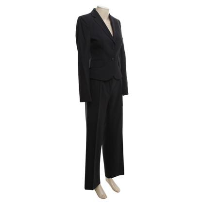 Hugo Boss Suit scheerwol in blauw