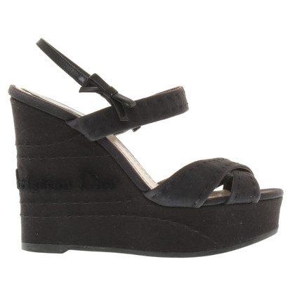 Christian Dior Wedges in donkerblauw