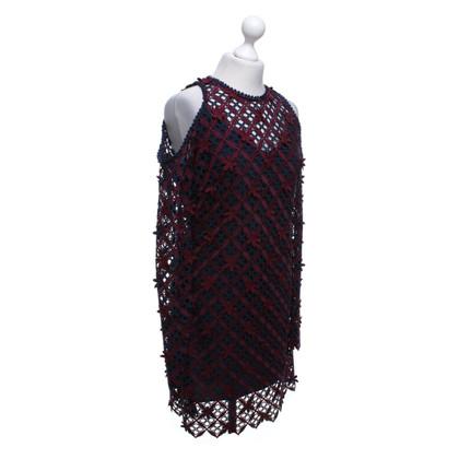 Self-Portrait Crochet dress with floral details