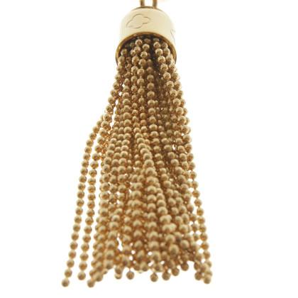 Louis Vuitton Goldfarbener Schlüsselanhänger