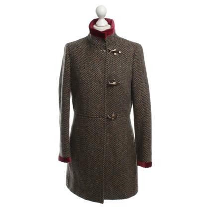 Fay Wool coat with herringbone